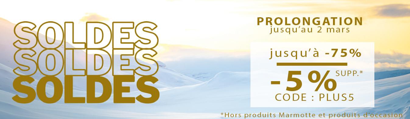 Prolongation soldes hiver ! Jusqu'au 2 MARS -75% + -5% supp.*