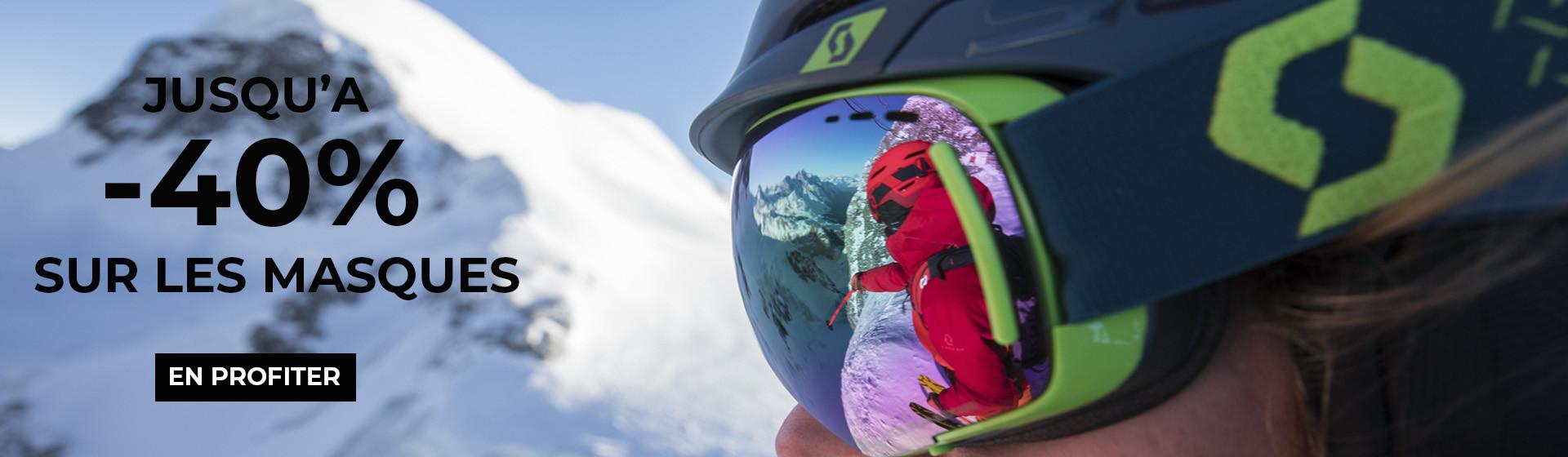 Jusqu'à -40% sur les masques de ski